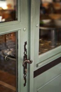 Lock handle of a door